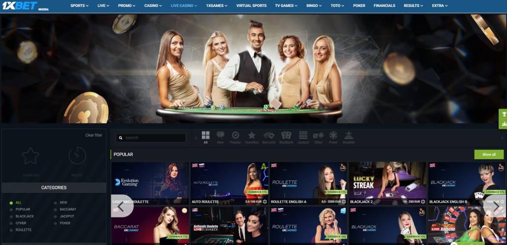 live casino on 1xbet