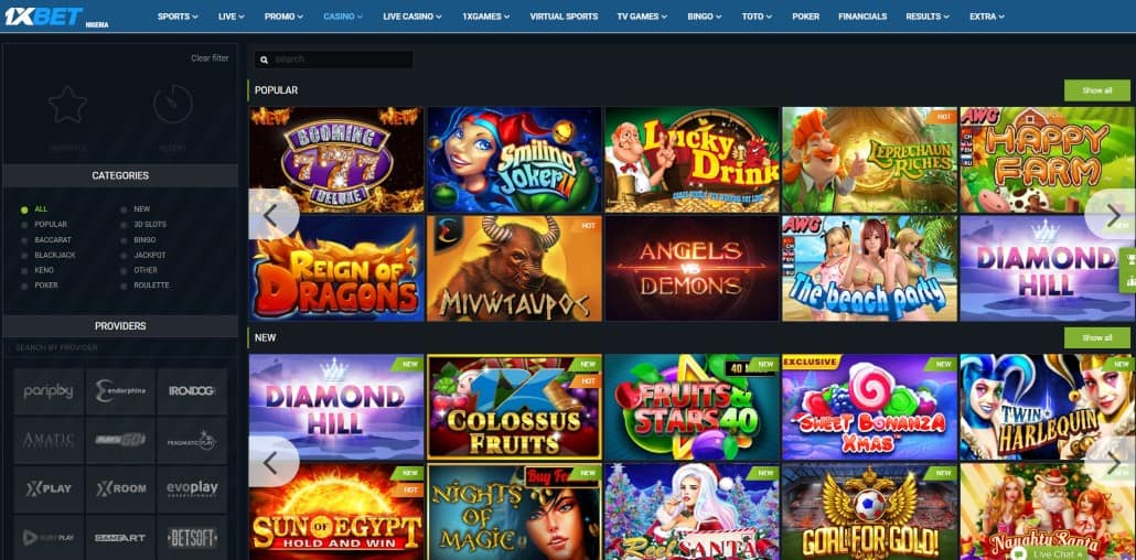 1xbet slot games in casino
