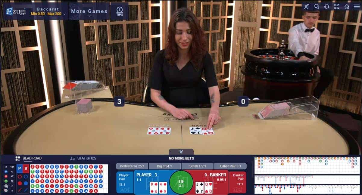 22Bet live casino game