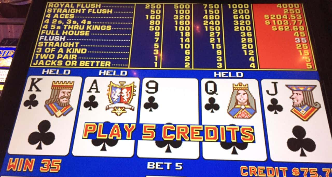 Video Poker as a online casino game