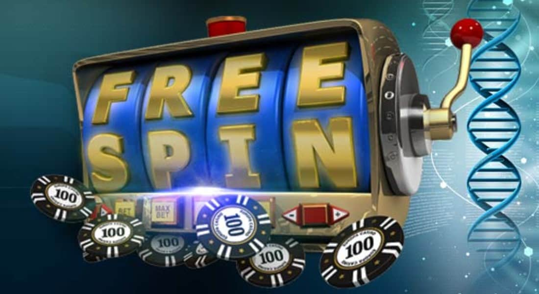 Free Spin slot with casino chips