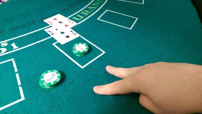 Blackjack two threes