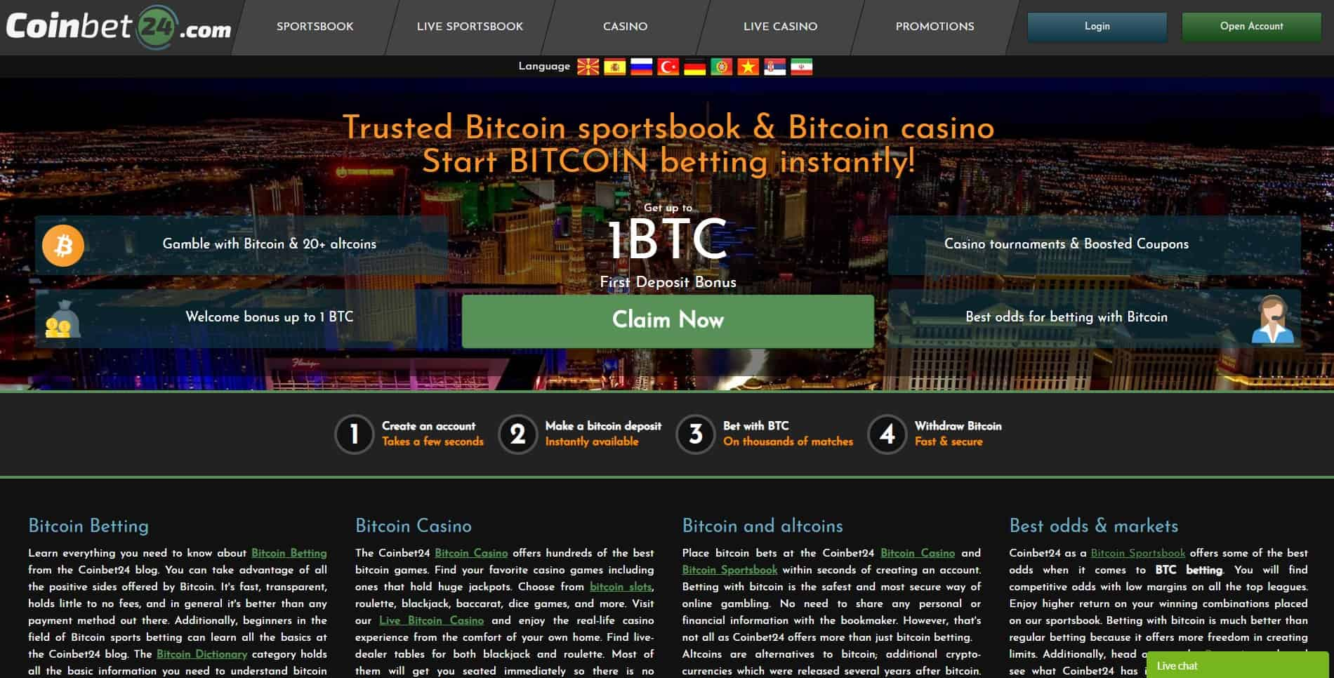 Coinbet24 front page