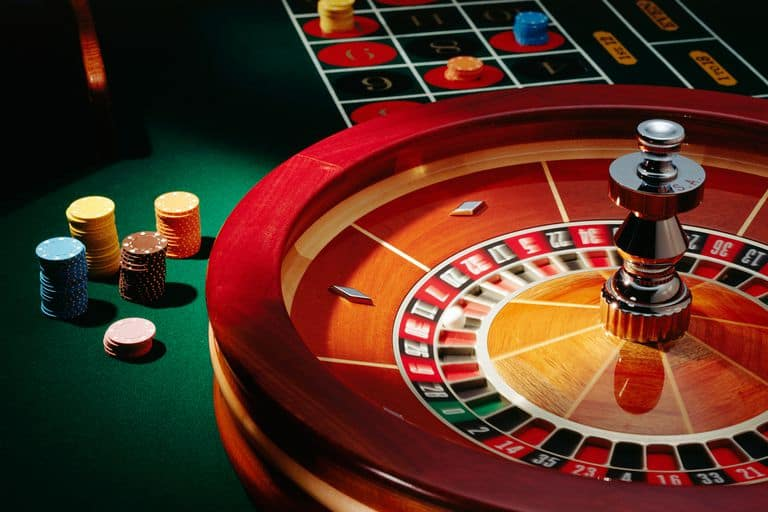 Roulette with casino chips