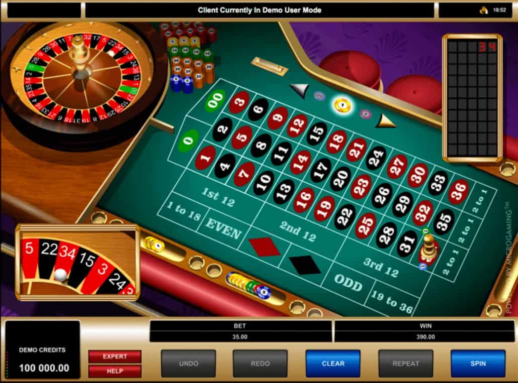 Online electronic roulette