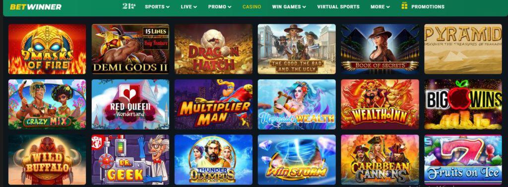 Betwinner Nigeria slot games