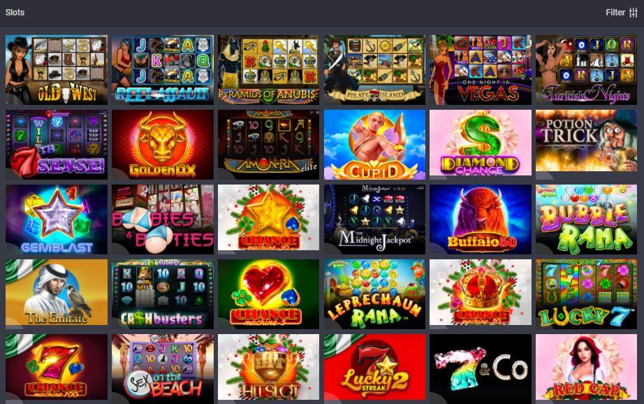 Slot games at Bet9ja casino
