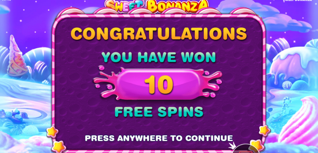 Sweet Bonanza Free spins